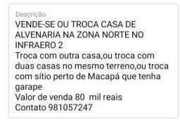 Título do anúncio: VENDE-SE OU TROCA CASA DE ALVENARIA