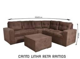 Título do anúncio: SOFÁ DE CANTO COM PUFF - DIRETO DA FÁBRICA- ENTREGA IMEDIATA!!