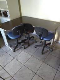 Mesa para escritório preta