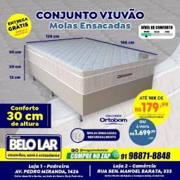 Cama Ortobom Viuvão Molas Ensacadas, Compre no zap *