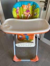 Título do anúncio: Cadeira Alimentação Chicco 2 em 1 Polly