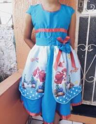 Vestido pequena sereia ( Ariel)