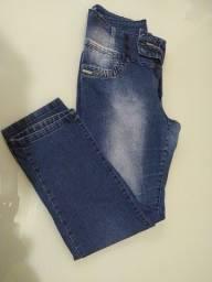 Calça jeans feminina cintura alta plus size