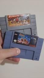 Fitas de Super Nintendo funcionando