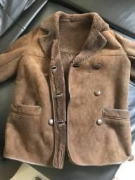 Casaco de couro com Lã