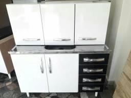 Kit cozinha ( Balcão com Inox e aéreo )