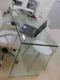 Mesa de vidro para escritório vendo ou troco 500