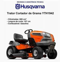 Trator Cortador De Grama Husqvarna Yth1942 Motor 19hp