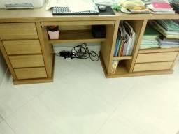 Mesa escritorio aparador com gavetas