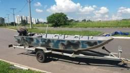 Vendo kit canoa motor e carreta - 2012