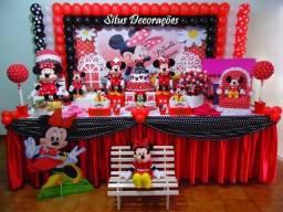 Decoração da Minnie Vermelha em Campinas
