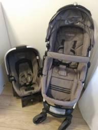 Carrinho de bebê + bebê conforto Kiddo