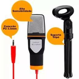 Microfone Condensador P2 Estudio Knup Gravação Profissional Live Face Youtube