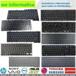 Vedemos teclados de notebook de todas as marcas