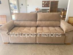 Sofa com pilon retratil e reclinavel - Via Lopes Interiores, wpp 62 9  *