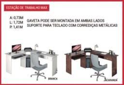 Mesa de escritório suporte para teclado com corrediças metálicas/produto novo