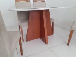 Título do anúncio: Mesa Rivatti de jantar 4 completa pintura laka e madeira maciça