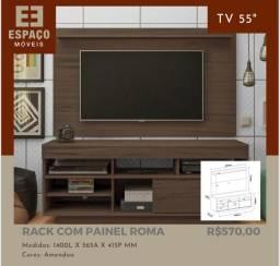 Título do anúncio: Rack com Painel Roma #Entrega e Montagem Grátis