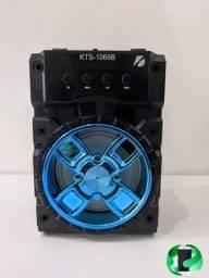 Título do anúncio: Caixa de som Bluetooth com entrada de microfone