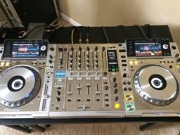 Título do anúncio: Kit Par CDJ 2000 Nexus + DJM 900 Nexus todos Platinum Edição Limitada c/ cases separados