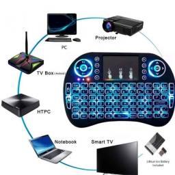 Título do anúncio: Mini Teclado Wireless Air Mouse Touch Smart Tv Iluminado