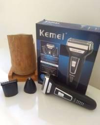 Máquina de barbear profissional Kemei