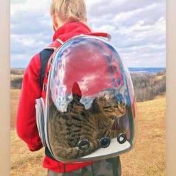 Mochila Pet Astronauta Panorâmica P/Passeios Cães e Gatos: