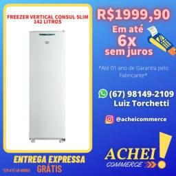 Título do anúncio: Freezer Vertical _142 Litros _ Consul Branco _ Novo _ NF
