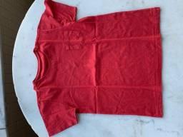 camisa vermelha infantil