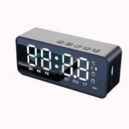 Título do anúncio: Caixa Som Bluetooth Relógio Digital Radio Fm/am Despertador