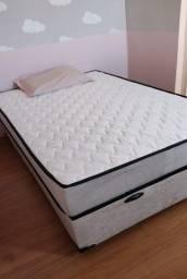 Título do anúncio: Cama Box Baú Casal + Colchão Molas Soft Dream 138x188x20 Cm