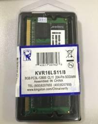 Título do anúncio: Memória para notebook Kingston 8GB, 1600MHz, DDR3 1.5v