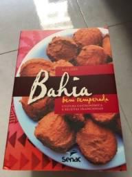 Livro gastronômico Bahia bem temperada nunca usado
