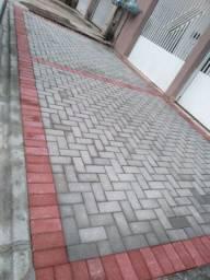 Calçada em Paver /meio fio