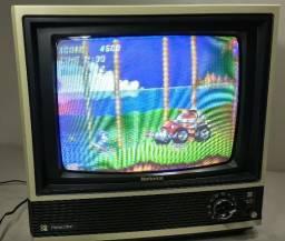 Tv Antiga Nacional Panacolor Funcionando Video Game Arcade