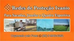 Redes de proteção campo e quadras esportivas sacada