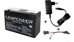 Kit Bateria 6v 12ah Original + Carregador 6v