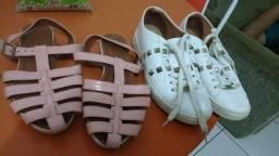 Tênis Branco da vizzano com detalhes mas essa sandália cor rose b9d5eeba21