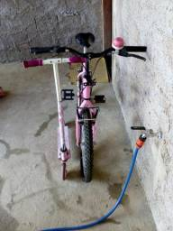 Bicicleta aro 20+ patinete bem conservados