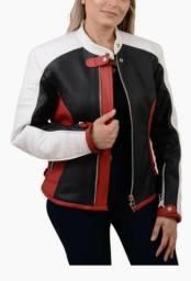 Jaqueta feminina de couro legitimo