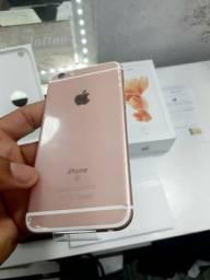 ????iphone 6s rose 32gb,zero ,aberto pra conferência, aceito trocas e cartão em até 12x
