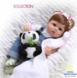 Bebê Reborn Menina Realista 40cm + Brinde Ursinho De Pelúcia