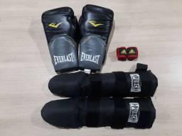 Luva de Muay Thai/Boxe + Caneleira