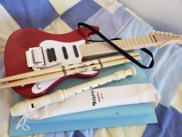 Flauta Germanica, Bagueta e Guitarra infantil, usado comprar usado  Sorocaba