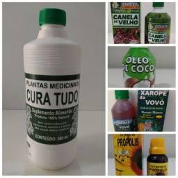 Produtos narurais, 37 ervas, óleo de coco, can de velho, gota  Zeca, xarop da vovó