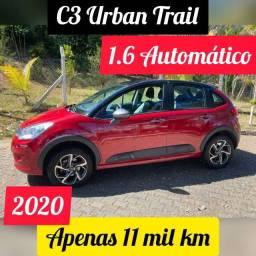 C3 * Ano 2020 * Urban Trail * 1.6 * Automático * Apenas 11 mil Km * Impecável