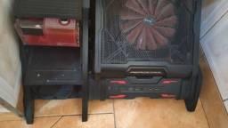 Gabinete ar Striker com wather cooler customizado