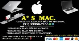 A*s mac reparos em placa mae de macbook ,imac& macmini