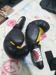 Kit de Boxe Luvas e Caneleiras