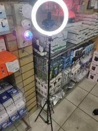 Tripé para celular com luz LED novo
